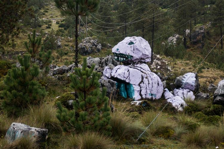 Nach 3 Stunden im Regen hörte er dann zuoberst auf 3400m endlich auf