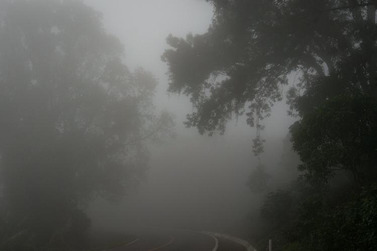 Die meiste Zeit lag alles im Nebel